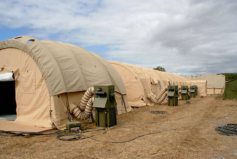 Soft Shelter Solar Shades & Deployable Shelter Systems | Global Defence Solutions